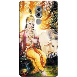 Digimate Printed Designer Soft Silicone TPU Mobile Back Case Cover For Huawei Honor 6X Design No. 1146