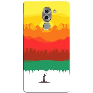 Digimate Printed Designer Soft Silicone TPU Mobile Back Case Cover For Huawei Honor 6X Design No. 0740