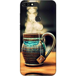 Digimate Printed Designer Soft Silicone TPU Mobile Back Case Cover For Huawei Honor 7C Design No. 0316