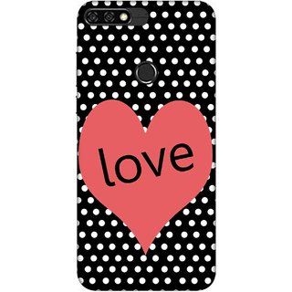 Digimate Printed Designer Soft Silicone TPU Mobile Back Case Cover For Huawei Honor 7C Design No. 0332