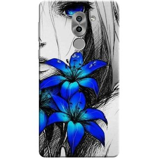 Digimate Printed Designer Soft Silicone TPU Mobile Back Case Cover For Huawei Honor 6X Design No. 1166