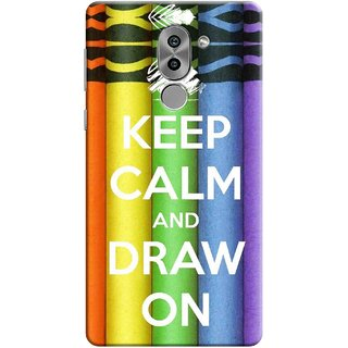 Digimate Printed Designer Soft Silicone TPU Mobile Back Case Cover For Huawei Honor 6X Design No. 1167