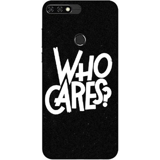 Digimate Printed Designer Soft Silicone TPU Mobile Back Case Cover For Huawei Honor 7C Design No. 0342
