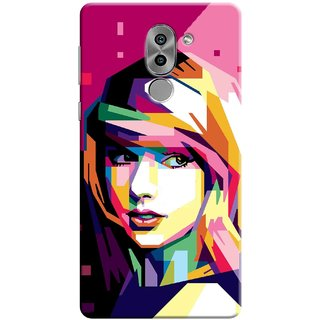 Digimate Printed Designer Soft Silicone TPU Mobile Back Case Cover For Huawei Honor 6X Design No. 1175