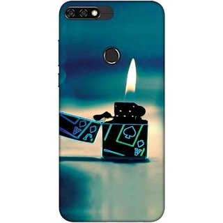 Digimate Printed Designer Soft Silicone TPU Mobile Back Case Cover For Huawei Honor 7C Design No. 0346