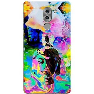 Digimate Printed Designer Soft Silicone TPU Mobile Back Case Cover For Huawei Honor 6X Design No. 0773