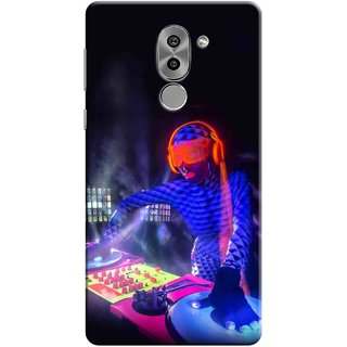 Digimate Printed Designer Soft Silicone TPU Mobile Back Case Cover For Huawei Honor 6X Design No. 1182