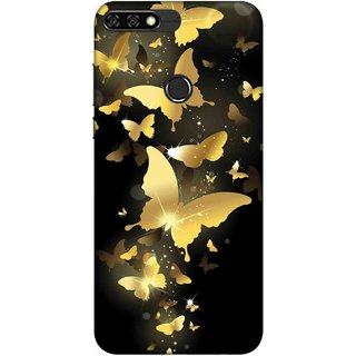 Digimate Printed Designer Soft Silicone TPU Mobile Back Case Cover For Huawei Honor 7C Design No. 0409