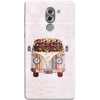 Digimate Printed Designer Soft Silicone TPU Mobile Back Case Cover For Huawei Honor 6X Design No. 0850