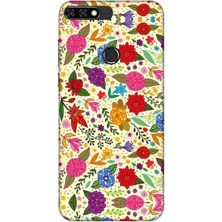 Digimate Printed Designer Soft Silicone TPU Mobile Back Case Cover For Huawei Honor 7C Design No. 0014