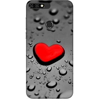 Digimate Printed Designer Soft Silicone TPU Mobile Back Case Cover For Huawei Honor 7C Design No. 0420