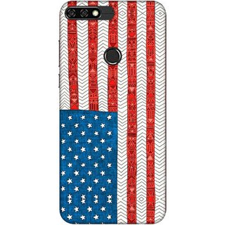 Digimate Printed Designer Soft Silicone TPU Mobile Back Case Cover For Huawei Honor 7C Design No. 0027