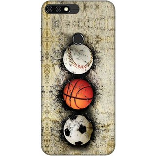 Digimate Printed Designer Soft Silicone TPU Mobile Back Case Cover For Huawei Honor 7C Design No. 0064