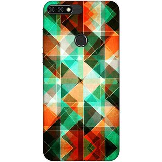 Digimate Printed Designer Soft Silicone TPU Mobile Back Case Cover For Huawei Honor 7C Design No. 0855