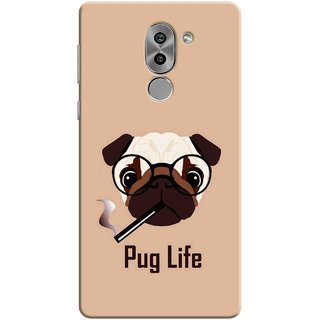 Digimate Printed Designer Soft Silicone TPU Mobile Back Case Cover For Huawei Honor 6X Design No. 0919