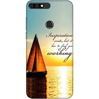 Digimate Printed Designer Soft Silicone TPU Mobile Back Case Cover For Huawei Honor 7C Design No. 0856
