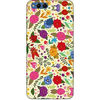 Digimate Printed Designer Soft Silicone TPU Mobile Back Case Cover For Huawei Honor 7X Design No. 0014
