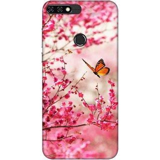 Digimate Printed Designer Soft Silicone TPU Mobile Back Case Cover For Huawei Honor 7C Design No. 0485