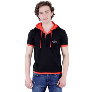 color club mens t-shirt with hooded