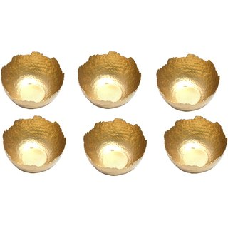Handicraft Handmade Metal Bowl Candle Light Holder Chocolate Box Set Of 6 Multi Purpose Use bowl Home Decorative