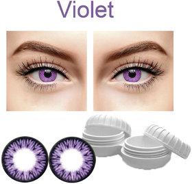TruOm Voilet Colour Monthly(Zero Power) Contact Lens
