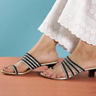 Altek Comfort Black Heel Sandal for Women (foot1385blackp200)