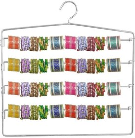 Martand 5 Layer Steel Hanger for Wardrobe, Sarees, Pants, Scarfs, bangles  Other Clothes (1 hanger)