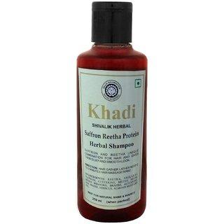 Khadi Saffron Reetha Protein Shampoo 210ml