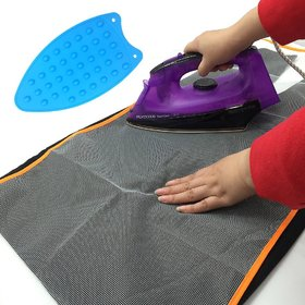 kudos Multipurpose Silicone Iron Rest Pad For Ironing Board Hot Resistant Mat,Silicone Heat Resistant Iron Rest Pad,Ironing Mat (Random Colour)