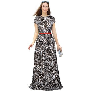 Florence Chiku Crepe Printed Stitched Gown
