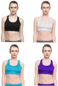 461a84bf8b446 Malachi Women s Non Padded Sports Bra for Womens and Girls (Pack of ...