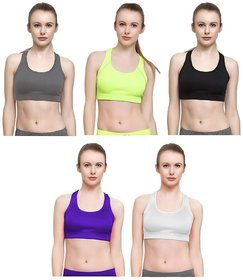 0c64f439c2a1e Malachi Women s Non Padded Sports Bra for Womens and Girls (Pack of ...