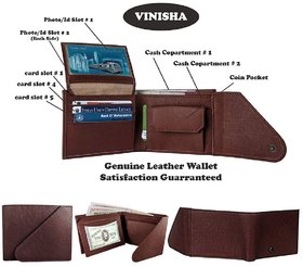 Leather Wallets for men in wallets, Brown (M-0022)
