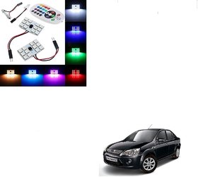 Auto Addict Car 12 LED RGB Roof Light with IR Remote Car Fancy Lights For Ford Fiesta Classic