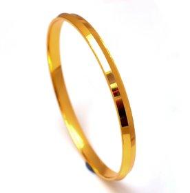 Jewar Mandi Men's Kada Bracelet Handmade One Gram Gold Plated Stylish Gents Jewelry for Men  Boys