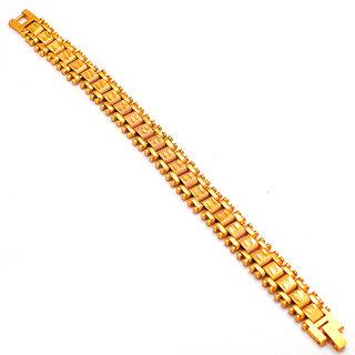 Jewar Mandi Men's Bracelet Handmade One Gram Gold Plated Stylish Gents Jewelry for Men  Boys