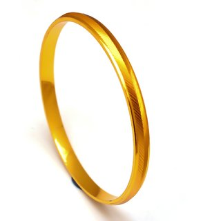 Jewar Mandi Men's Kada Bracelet Handmade One Gram Gold Plated Stylish Gents Jewelry for Men  Boys