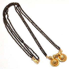 Jewar Mandi Mangalsutra One Gram Gold Plated South Indian katori Religious Fine Handmade Jewelry with Crystal Chain for Women