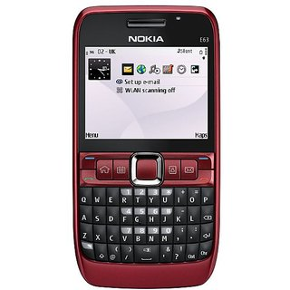 Refurbished Nokia E63 Red 2.4 inches(6.1 cm) Bar Screen 6 Month Warranty By Warranty Bazaar