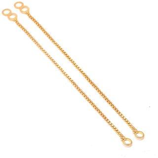 Jewar Mandi Ear Chain One Gram Gold Plated Handmade Kanoti Kan Chain Jewelry for Women  Girls