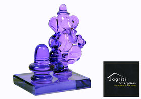 Shivling Ganesh God Idol God Idol  Decorative Showpiece - 5.50 cm(Crystal, volite)
