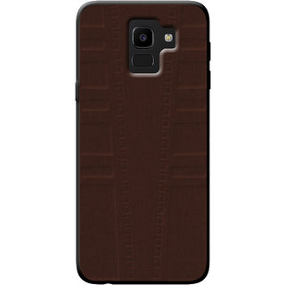 Cellmate Exclusive Soft Matte Fabric TPU Protection Designer Mobile Back Case Cover For Samsung Galaxy On6 (2018) - Coffee Brown