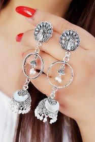 Navya Collection Oxidized Long Jhumki Earrings