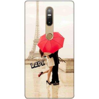 Digimate Printed Designer Soft Silicone TPU Mobile Back Case Cover For Lenovo Phab2 Plus Design No. 0350