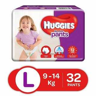 Huggies Wonder Pants Large Size Diapers (32 Count)