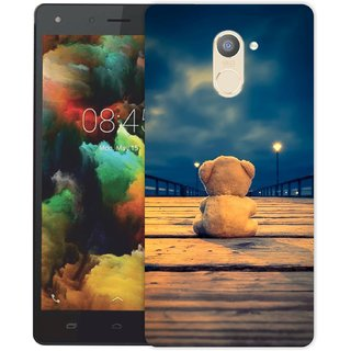 Ezellohub **Teddy** Printed  Hard Mobile Back Cover Case for infinix Hot 4 Pro