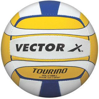 Vector X Tourino Volleyball 32 Panels (White-Yellow-Blue)
