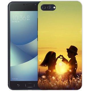 Ezellohub **Couple** Printed  Hard Mobile Back Cover Case for Zenfone 554 kl 4 Max