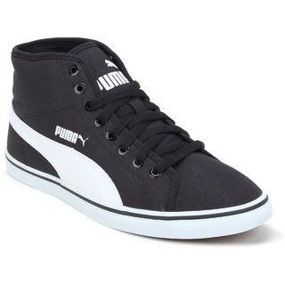 Puma Men Black White Elsu v2 Mid CV DP Casual Shoes 36212401