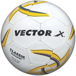 Vector X Classik Volleyball 32 Panels (White-Blue-Yellow)